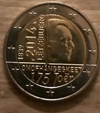 PIECE 2 EURO LUXEMBOURG 2014 UNC 175 ans de l'INDEPENDANCE
