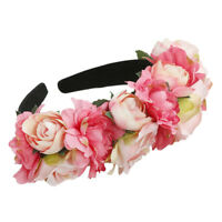 Flower Headband Floral Crown Wedding Bride Hairband Garland Wreath Beach Party