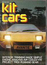 Kit Cars 5/82 Beetle Avante Ranger Cub WM Trek GP Madison GTM Mini based cars +