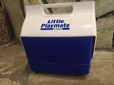 New listing Barely Used Small Vintage Blue Little Playmate by Igloo Ice Cooler Push Button