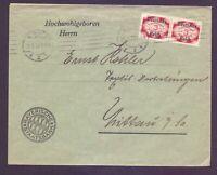 Dt. Reich Dienstbrief 1922 - 2mal MiNr. D 50 geprüft - Michel 65,00 €+ (187)