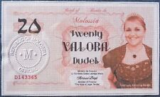 Republic of Molossia : The 20 Valora Banknote, their highest denomination. UNC