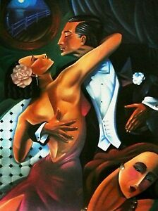 """Ted Young-""""Dancer (Tango)"""" Ltd Ed Lithograph/Paper/Hand Signed/#351/875/20""""x 28"""""""