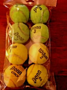 DOG FETCH/EXERCISE BALL TOY....... EIGHT(8)TENNIS BALLS UPCYCLED & MADE IN USA