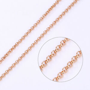 """9ct 9k Rose """"Gold Filled""""Rolled Gold All Sizes Belcher Chain Necklace,3.5mm 1049"""