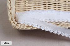 "14yds Embroidery cotton eyelet lace trim 0.8"" white YH nut laceking2013"