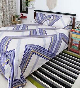 The Linen Company 100% Cotton Double Bedsheet 2 Pillow Covers Free Shipping