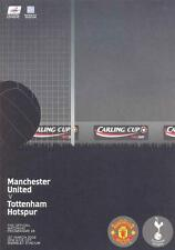 CARLING LEAGUE CUP FINAL 2009 MAN UTD TOTTENHAM MINT PROGRAMME SPURS MANCHESTER