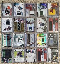 HUGE Football 191 Card Lot:  All Auto Autograph, Game Used, RPA, and Jersey ONLY