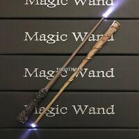Hermione + Harry Potter Magic Wand Combo Set w/ LED Light Cosplay Costume