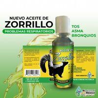 Aceite de Zorrillo 100% natural para problemas respiratorios tos, asma, bronquio
