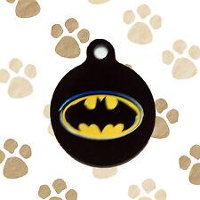 Batman Symbol Dark Knight Dog Pet ID Tag Engraved Personalized Key