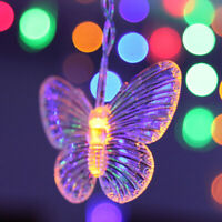 11.5Ft 96LED Butterfly String Curtain Lights Wedding Room Party Xmas Decor Lamp