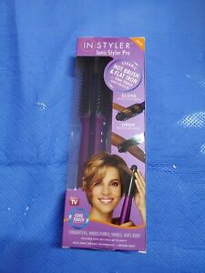 InStyler Ionic Styler Pro Ceramic Hot Brush & Flat Iron with Cool Touch Bristles