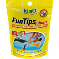 Tetra Fun Tips Tropical Aquarium Fish Food Adhesive Treats 20 Tablets