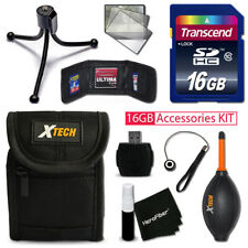 Xtech Kit for SONY Cyber-Shot DSC-W800 - 16GB Memory + Case + Reader + MORE