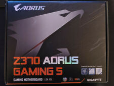 Gigabyte Z370 Aorus Gaming 5 motherboard with accessories
