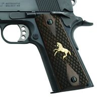 ALTAMONT 1911 Grips - Rampant Colt - Full Size 1911 Wood Grips w. Ambi Safety...
