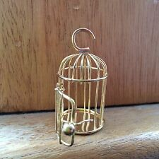 Doll house Scale 'GOLD' Metal Bird Cage which opens!!! Buy Now & Don 't miss out.
