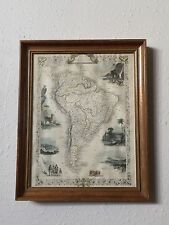 J. Rapkin Vintage South American Engraved Illustration Atlas Map Dated 1851