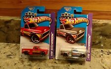 1 Pair Of 2013 Hot Wheels® Hw Showroom™ Custom '69 Chevy Pickups (1 Zamac Oo7)