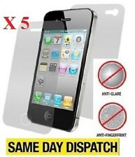 5 x Front & Back Anti-Glare Matte Screen Protectors Film for iPhone 4 4S & Cloth