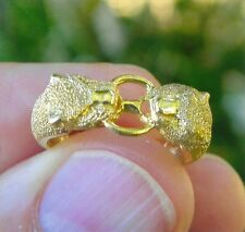 14K SOLID YELLOW GOLD VALENTINE GIFT FRIENDSHIP/WEDDING BIG CAT RING SIZE 7 1/4