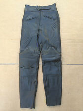 """Mens J&S Leather Motorbike Motorcycle Trousers Size UK 26"""" Waist  T37"""