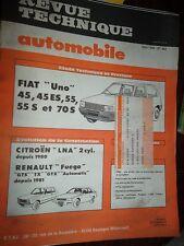 Fiat UNO 45 45ES 55 55S 70S : revue technique RTA 442