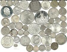 """WORLD (47) FORTY SEVEN OLD SILVER COINS  #3980 """"GREAT BIG LOT & FREE USA SHIP"""""""
