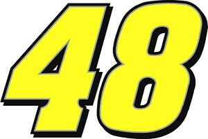 """NEW FOR 2020#48 Jimmie Johnson Racing Sticker Decal 12"""" x 18"""" - Various colors"""