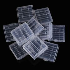 10x Plastic Case Holder Storage Box Cover for Rechargeable AA AAA Batteries D4S5