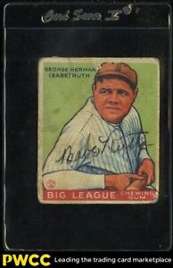 1933 Goudey Babe Ruth SIGNED AUTOGRAPHED AUTO #181, JSA AUTH LOA