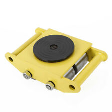 Yellow 6T Heavy Duty Machine Dolly Skate Roller Machinery Mover 360° Rotation