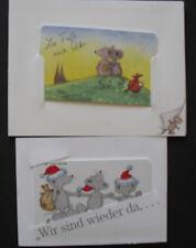 TKD098) Telefonkarten Bärbel Haas 2x Folder mit 4 Telefonkarten Mäuse mint/**