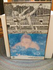 1984 Los Angeles Olympic Games Poster Jennifer Bartlett Swimming HighJump FRAMED
