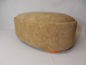 Oval Suede Ottoman Available in 3 Colors - Free US 1 Day Shipping