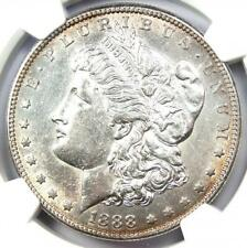 1888-S Morgan Silver Dollar $1 - Certified NGC AU Details - Rare Date!