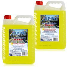 2x ALPINE Scheibenklar Sommer 1:10 Konzentrat Insektenlöser Citrusduft 5 Liter