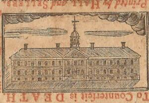 1775 WALNUT ST. PRISON JAIL NOTE PENNSYLVANIA COLONIAL CURRENCY MONEY PA-175
