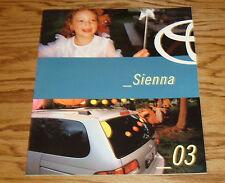 Original 2003 Toyota Sienna Sales Brochure 03