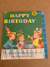 45 RECORD GOLDEN RECORD HAPPY BIRTHDAY 1960 SANDPIPERS MITCH MILLER ORCHESTRA