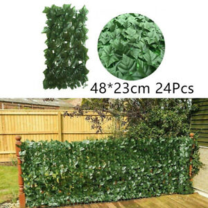 Artificial Fake Ivy Leaf Hedge Privacy Screening Garden Wall Fence Panel Netting