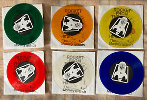 "ROCKET FROM THE CRYPT HITS! The Monkey Islands 6 X 7"" Vinyl Singles + AAA Pass"