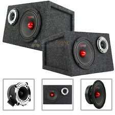 "PRO-GM6B 6.5"" MidRange Speaker PRO-TW120 Super Tweeter Custom Sealed Box Package"