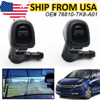New 2X Front Windshield Wiper Washer Jet Nozzle For Hyundai Santa Sonata Elantra