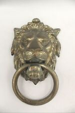 Vintage Traditional Brass DOOR KNOCKER Wall Mountable Lion Head - G27