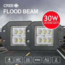 PAIR 30W 4 inch CREE Flush Mount LED Work Lights FLOOD 12V 24V Reverse Truck 5""