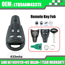For 2003-2011 Saab 9-3 9-5 Keyless Entry Smart Prox Remote Key Fob Ltqsaam433Tx (Fits: Saab 9-3)