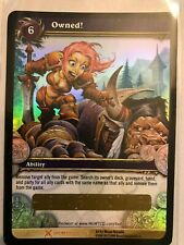 WOW TCG - Owned! unscratched Loot Card